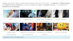 Cartelera de cine de Salamanca... Cartelera, ciclos, directos, estrenos, horarios, pases, día del espectador, salas, 3D, HD, VOSE