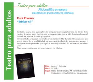Dark Phoenix, Bunker 63, Torrente Ballester, Salamanca