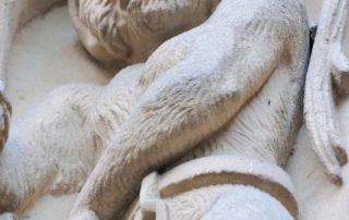 Mono encadenado en la Catedral Nueva de Salamanca