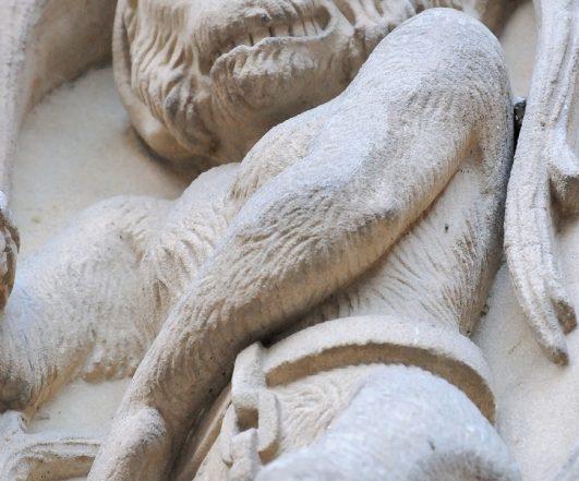 Mono encadenado, Catedral Nueva, Salamanca