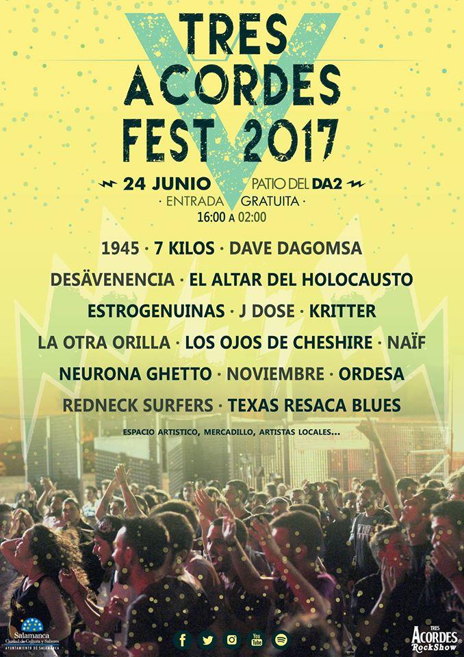 Tres Acordes Fest 2017, Salamanca