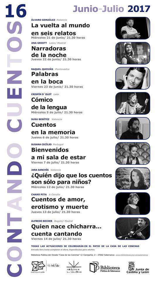 Contando Cuentos 16, Casa de las Conchas, Salamanca
