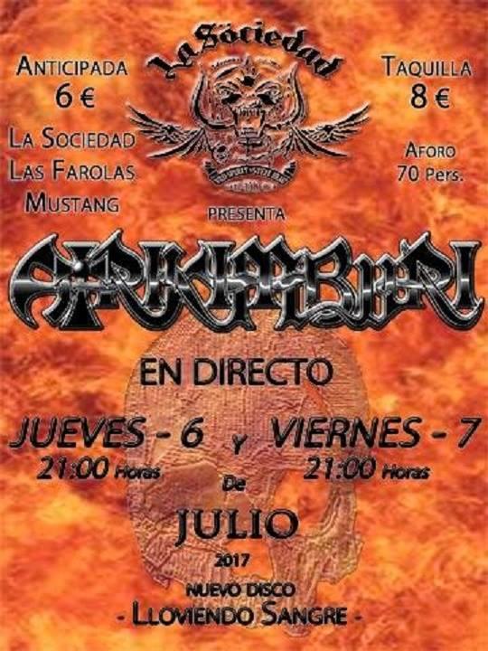 Atrikimburi, La Sociedad Hard Rock Club, Salamanca