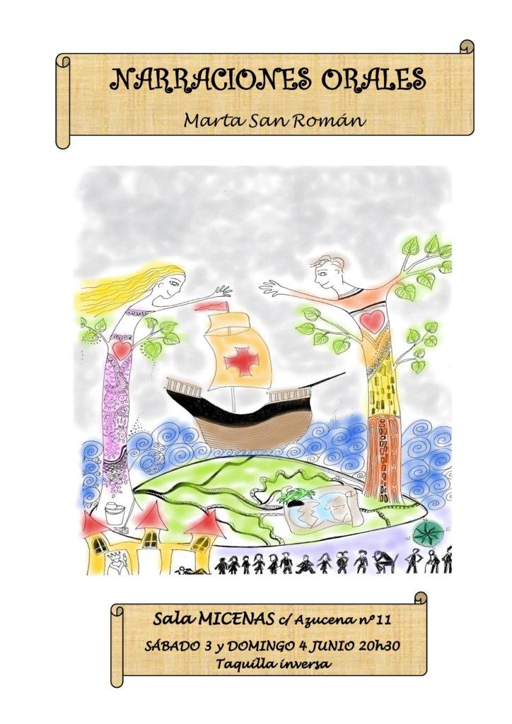 Narraciones orales, Sala Micenas ATV, Salamanca