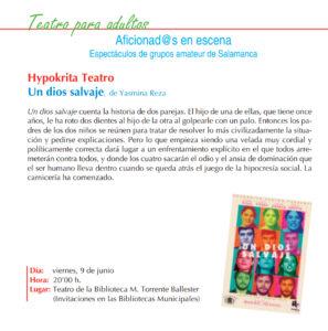 Hypokria Teatro, Torrente Ballester, Salamanca