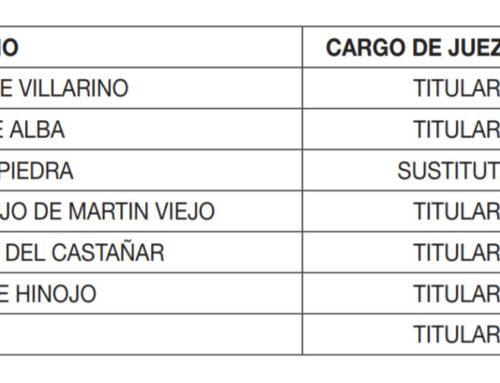 Nuevos jueces de Paz para la provincia de Salamanca.