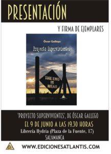 Óscar Gallego, Proyecto Supervivientes, Librería Hydria