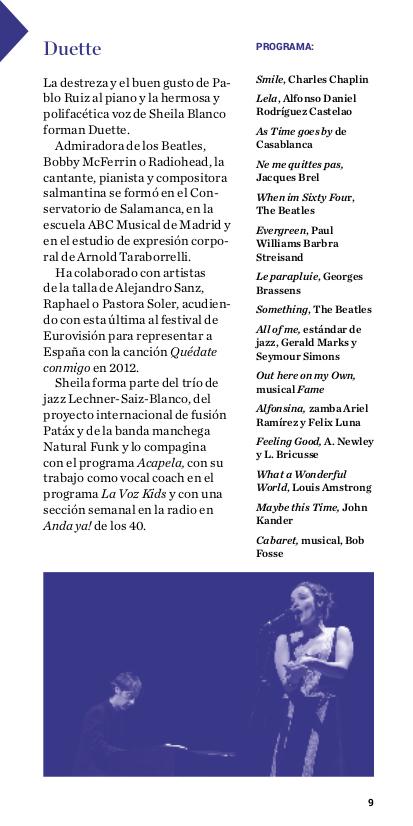 Duette Jazz, Salamanca