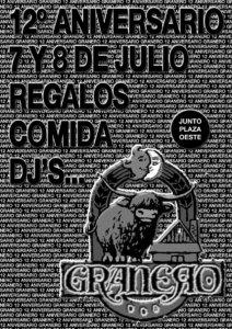 XII Aniversario, Bar Granero