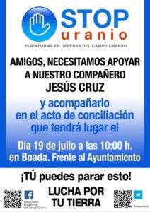 Plataforma del Campo Charro Stop Uranio