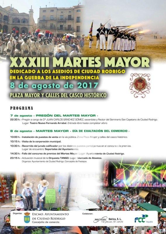 Ciudad Rodrigo, Martes Mayor 2017