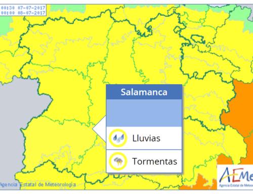 Salamanca regresa a la alerta meteorológica amarilla, este viernes.