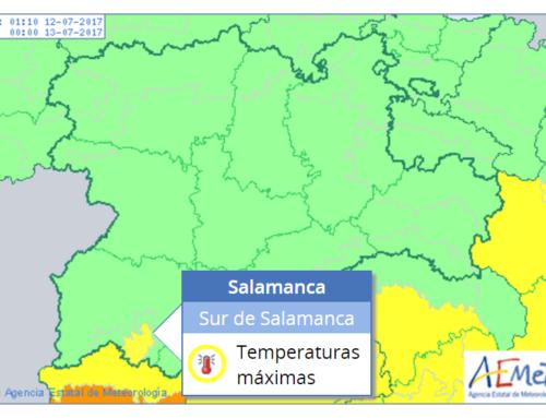 El sur de Salamanca regresa a la alerta meteorológica amarilla, este miércoles.