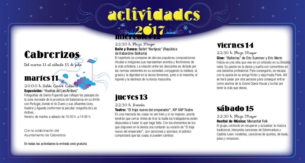Cabrerizos, Noches de Cultura 2017
