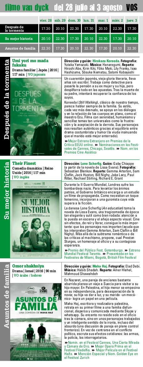 filmo Van Dyck 2017, del 28 de julio al 3 de agosto