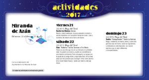 Miranda de Azán, Noches de Cultura 2017