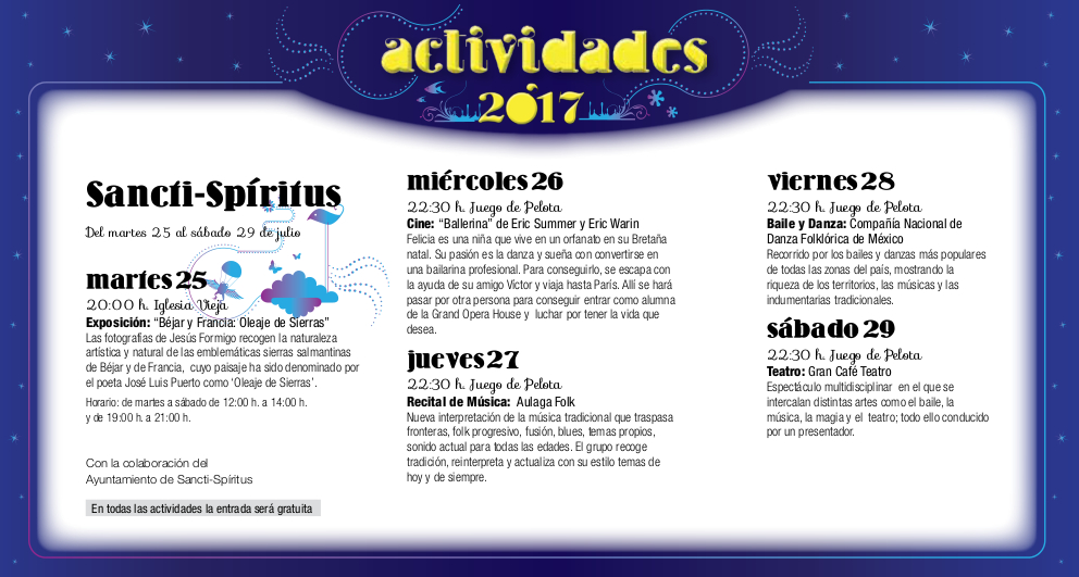 Sancti Spíritus, Noches de Cultura 2017