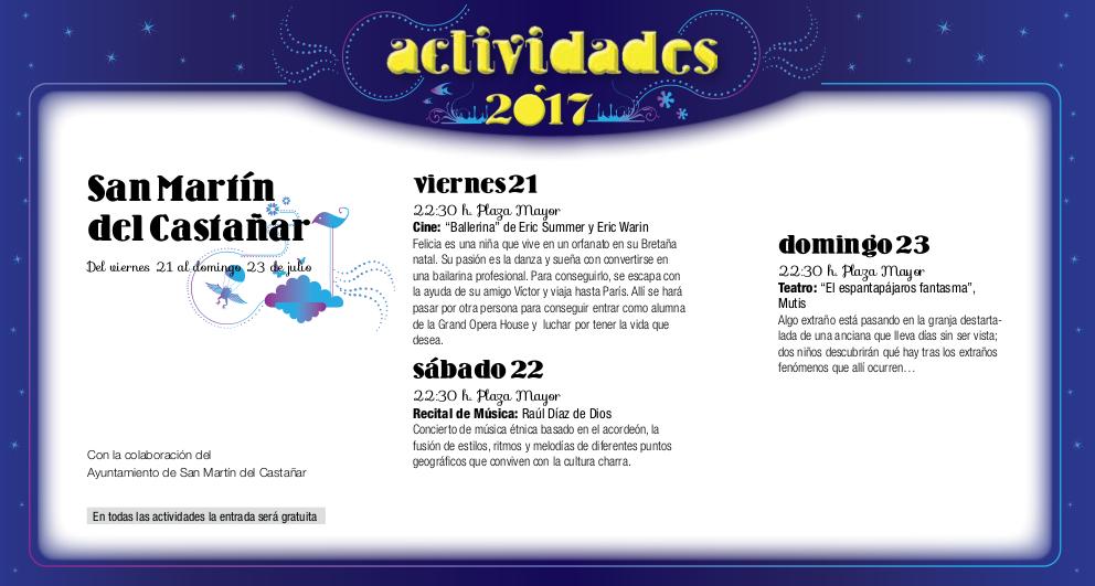 San Martín del Castañar, Noches de Cultura 2017