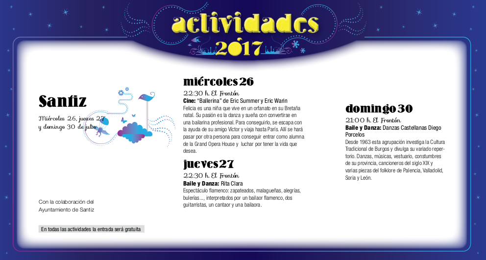 Santiz, Noches de Cultura 2017