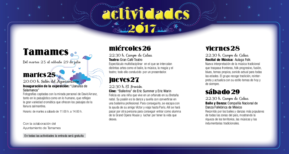 Tamames, Noches de Cultura 2017