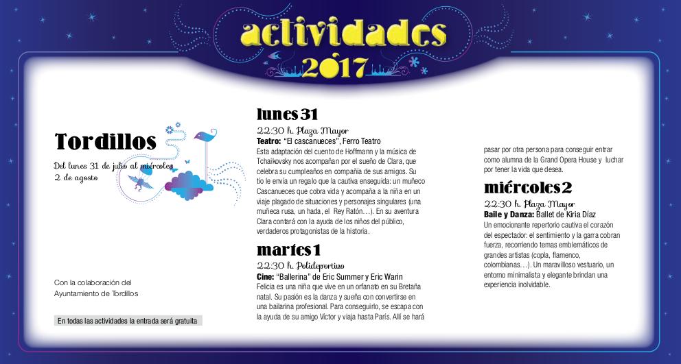 Tordillos, Noches de Cultura 2017