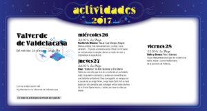 Valverde de Valdelacasa, Noches de Cultura 2017
