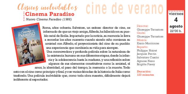 Cinema Paradiso, Cine al Aire Libre