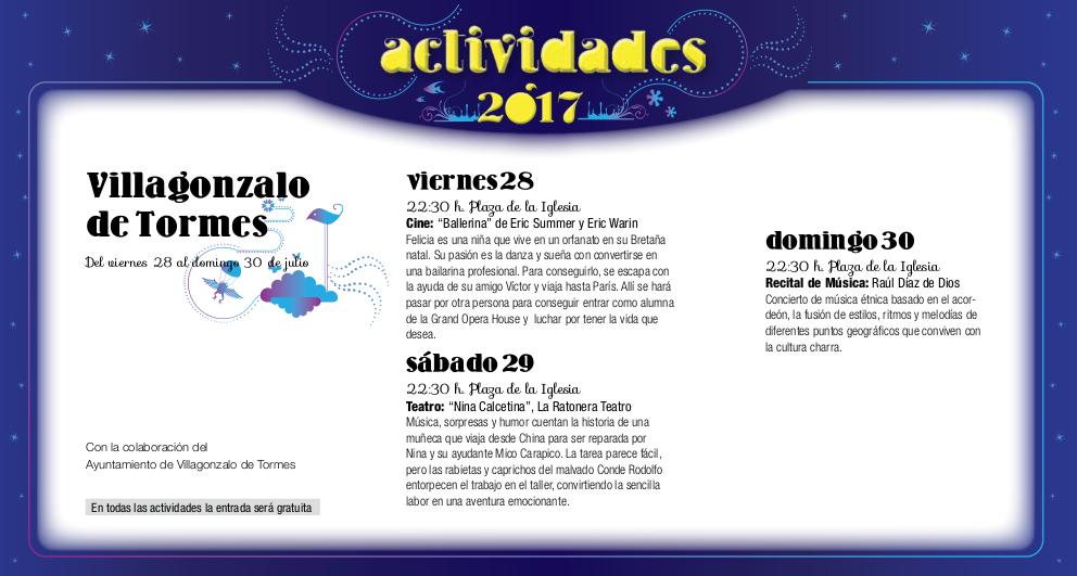 Villagonzalo de Tormes, Noches de Cultura 2017