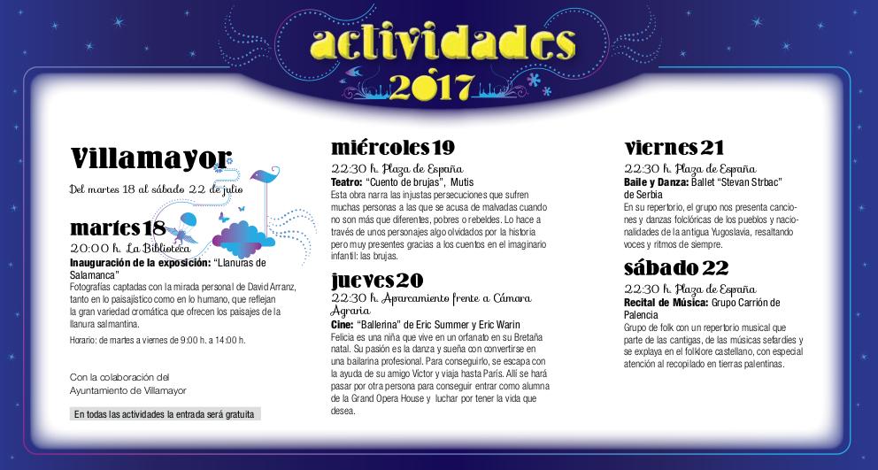 Villamayor de Armuña, Noches de Cultura 2017