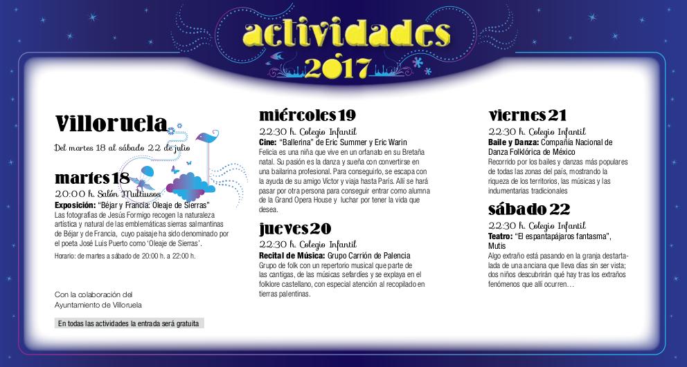 Villoruela, Noches de Cultura 2017