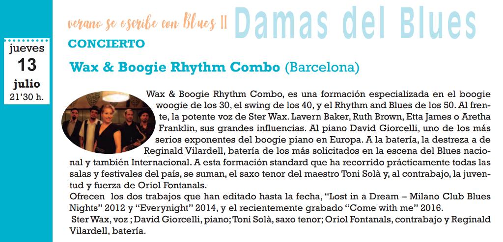 Wax & Boogie Rhythm Combo, Salamanca