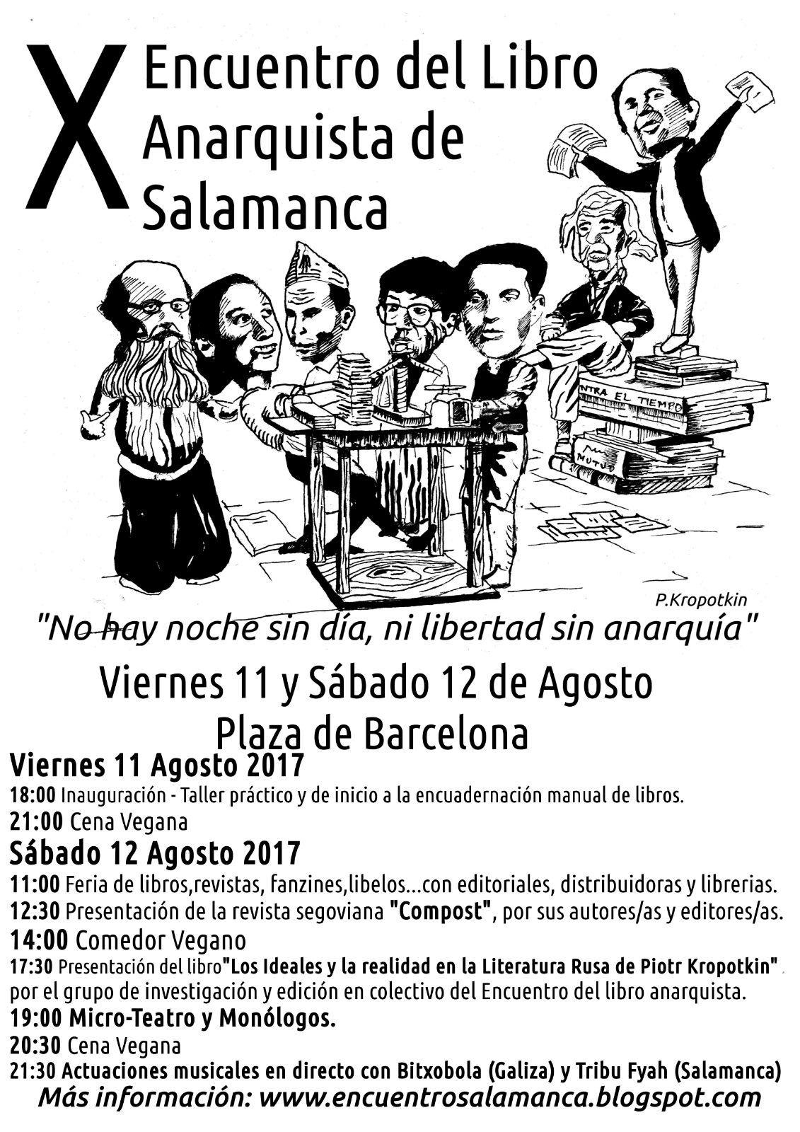 X Encuentro del Libro Anarquista de Salamanca