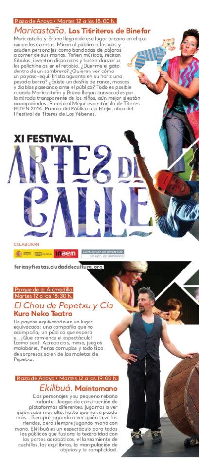 XI Festival de Artes de Calle, Salamanca