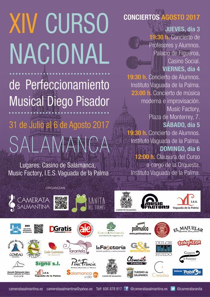 XIV Curso Nacional de Perfeccionamiento Musical Diego Pisador, Agosto 2017