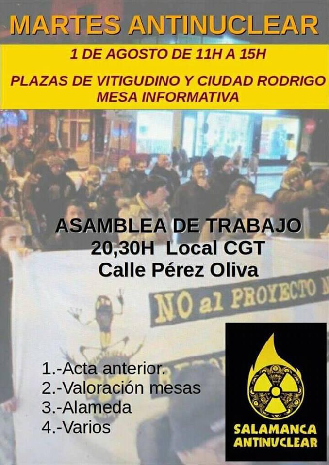 Salamanca Antinuclear, 1 de agosto de 2017