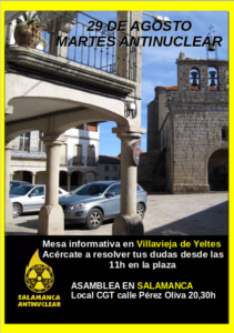 Salamanca Antinuclear, 29 de agosto de 2017
