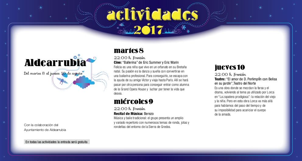 Aldearrubia, Noches de Cultura 2017