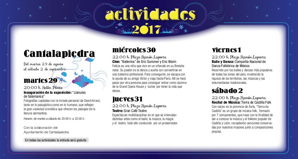 Cantalapiedra, Noches de Cultura 2017