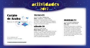 Carpio de Azaba, Noches de Cultura 2017
