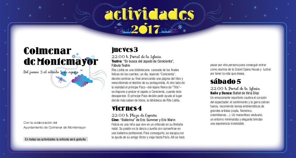 Colmenar de Montemayor, Noches de Cultura 2017