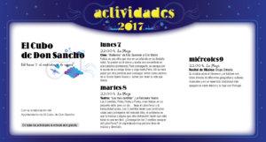 El Cubo de Don Sancho, Noches de Cultura 2017