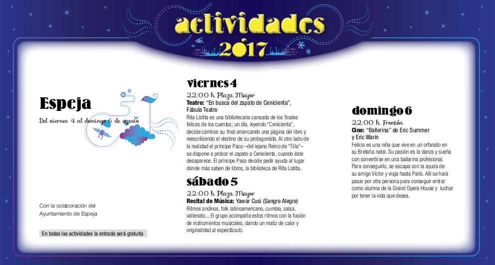 Espeja, Noches de Cultura 2017