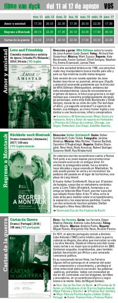 filmo Van Dyck 2017, del 11 al 17 de agosto