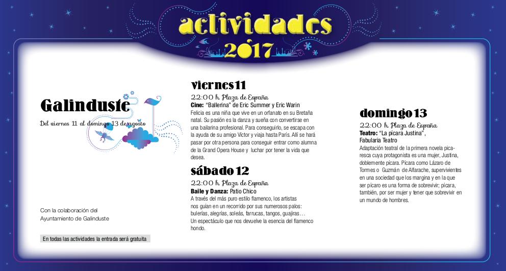 Galinduste, Noches de Cultura 2017