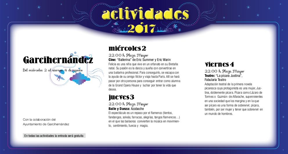 Garcihernández, Noches de Cultura 2017