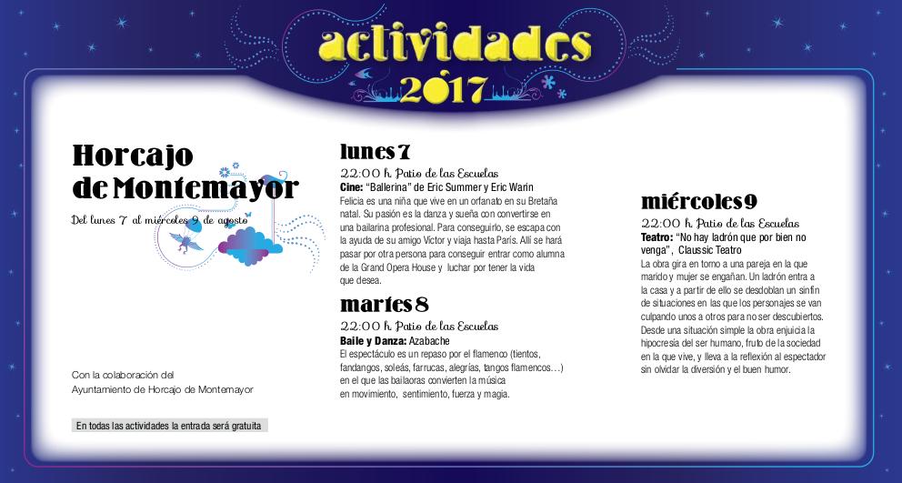 Horcajo de Montemayor, Noches de Cultura 2017