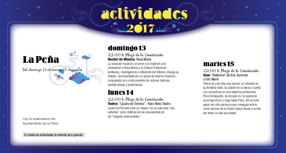 La Peña, Noches de Cultura 2017