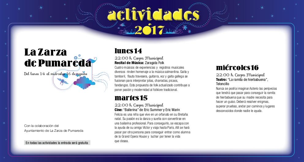 La Zarza de Pumareda, Noches de Cultura 2017