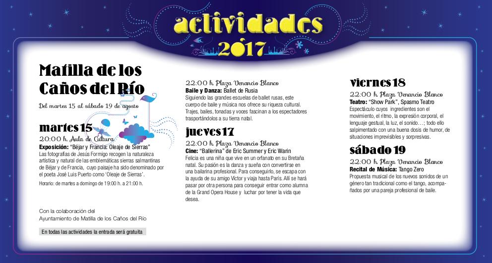 Matilla de los Caños del Río, Noches de Cultura 2017