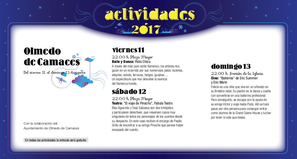 Olmedo de Camaces, Noches de Cultura 2017